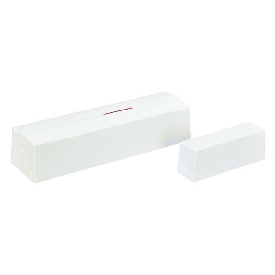 Contatto magnetico senza fili con ingresso a conteggio impulsi, bianco