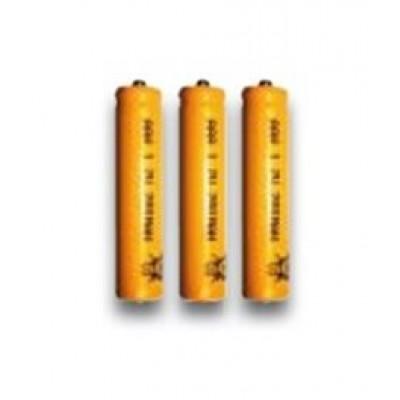 Confezione di 3 pile al Ni-Cd ricari cabili 1,2 V - 300 mAh