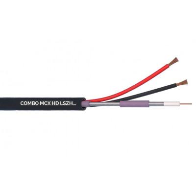 CAVO COASSIALE COMPOSTO TVCC HD MCX 2X0,75 6.7 LSZH M21 NERO