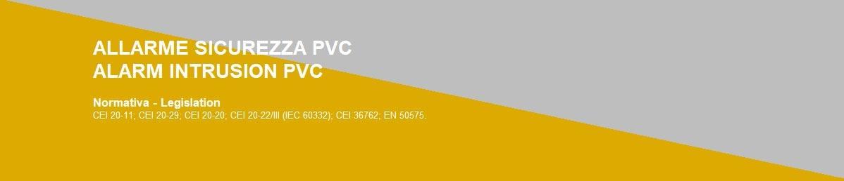 ALLARME/SICUREZZA PVC
