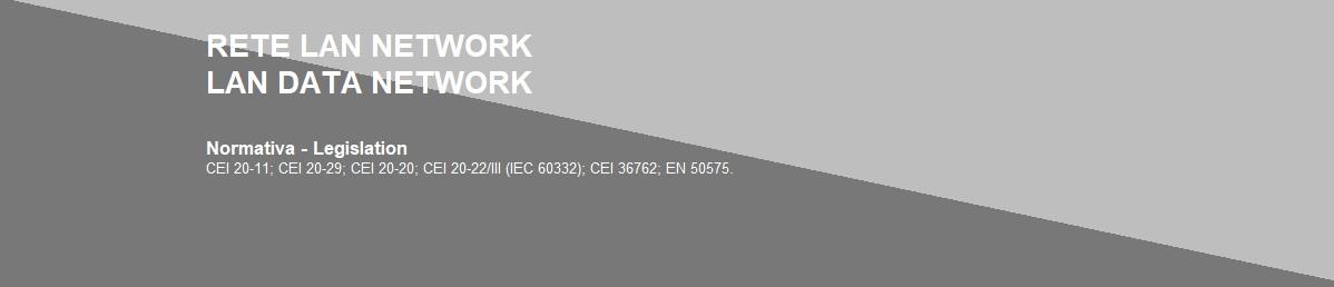 RETI LAN / NETWORK